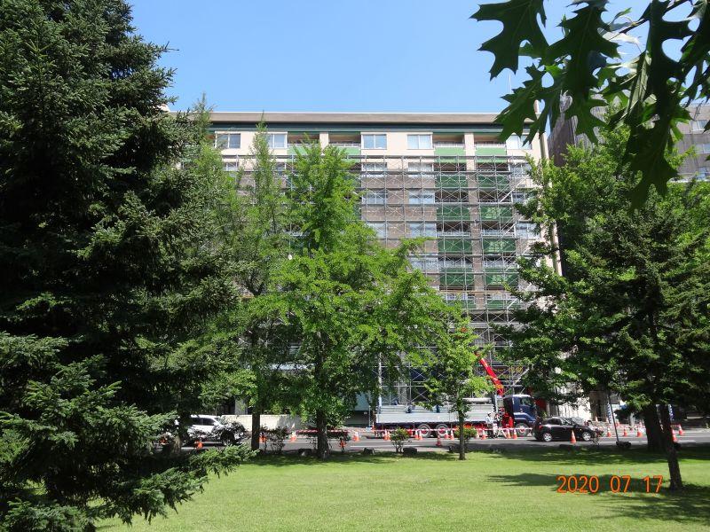 7月11日札幌市内の外断熱改修Aマンション現場見学会を開催